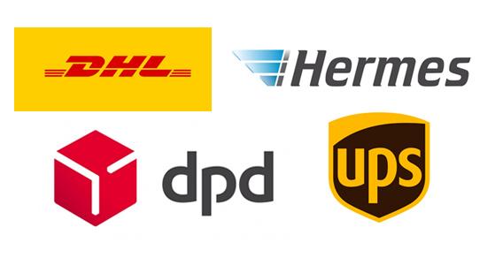 Gerät per Post zu uns senden. DHL, DPD, UPS, Hermes