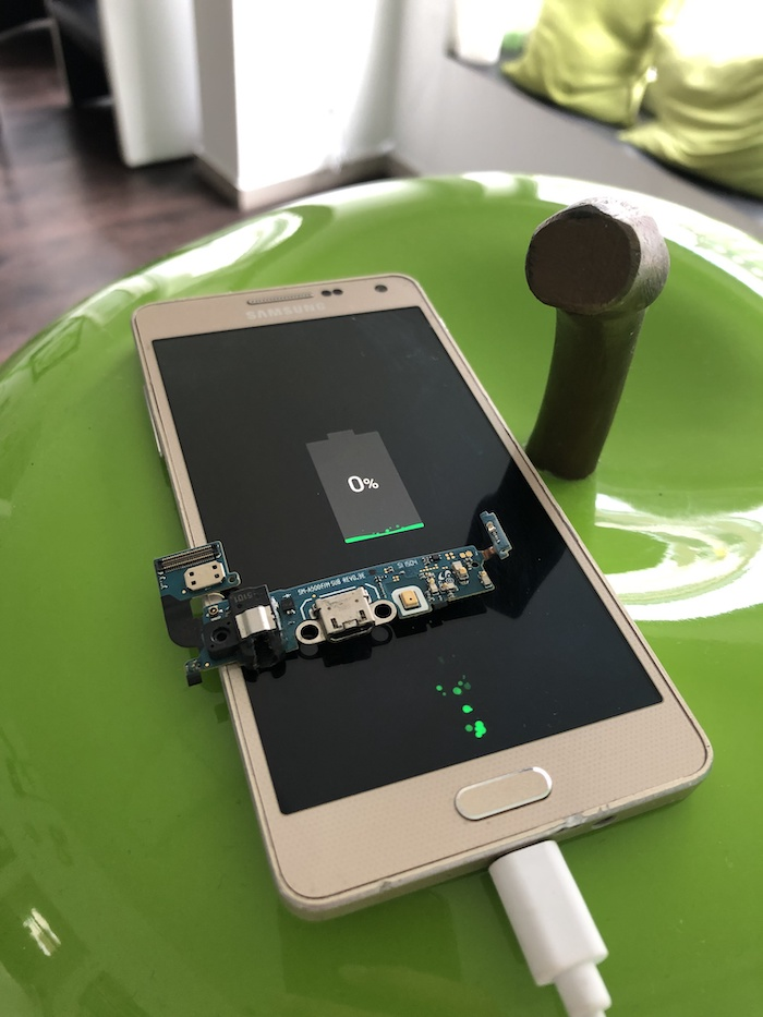 Samsung A5 Austausch der Ladebuchse Apfel Service