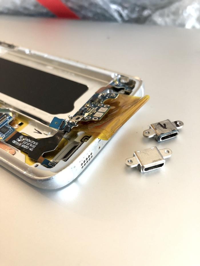 Samsung S7 Edge kleine Ladebuchse auswechseln Apfel Service