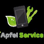 Apfel Service Logo Quadratisch